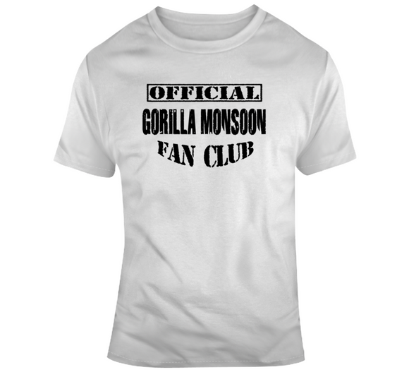 Gorilla Monsoon Official Fan Club Wrestling T Shirt - Blazintees.com