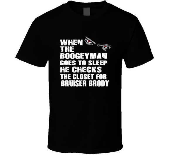 Bruiser Brody Boogeyman Checks Closet Retro Wrestling T Shirt - Blazintees.com