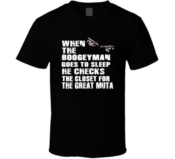 The Great Muta Boogeyman Checks Closet Retro Wrestling T Shirt - Blazintees.com
