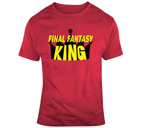 Final Fantasy King Retro Video Game V2 T Shirt - Blazintees.com