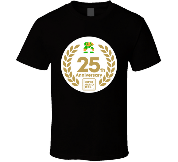 Super Mario Bros Luigi 25th Anniversary Retro Video Game T Shirt - Blazintees.com