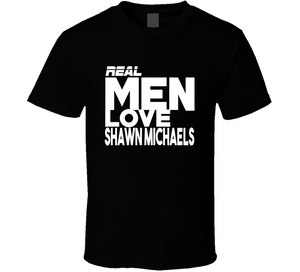Shawn Michaels Real Men Love Retro Wrestling T Shirt - Blazintees.com