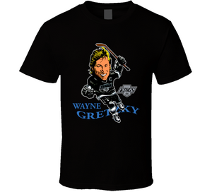 Wayne Gretzky Los Angeles Hockey Caricature T Shirt - Blazintees.com