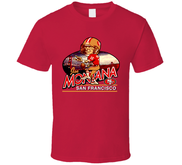 Joe Montana San Francisco Football Caricature T Shirt - Blazintees.com