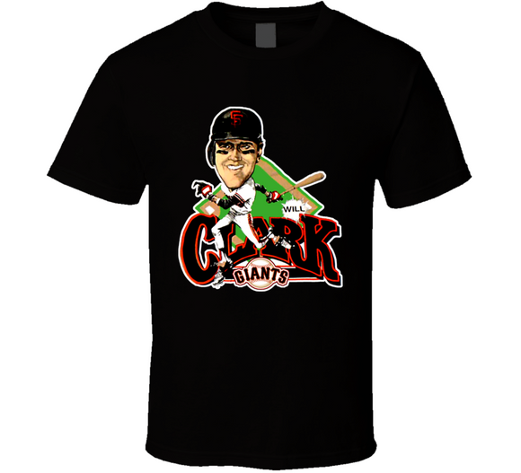 Will Clark San Francisco Baseball Caricature T Shirt - Blazintees.com