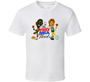 Larry Bird Magic Johnson 1987 Finals Basketball T Shirt - Blazintees.com