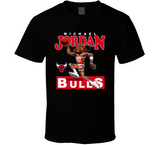 Michael Jordan His Airness Chicago Basketball Caricature T Shirt - Blazintees.com