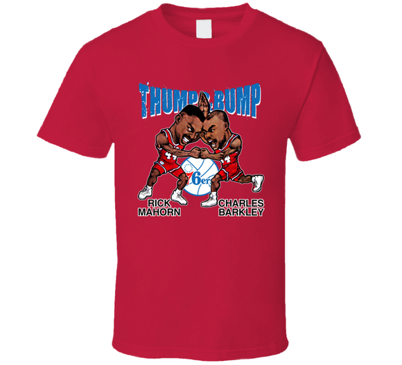Charles Barkley Rick Mahorn Thump And Bump Philadelphia Basketball Caricature T Shirt - Blazintees.com