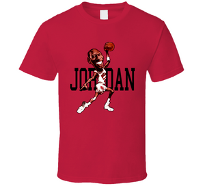 Michael Jordan Chicago Basketball Caricature T Shirt - Blazintees.com