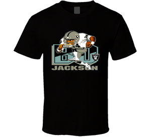 Bo Jackson Los Angeles Retro Football Caricature T Shirt - Blazintees.com