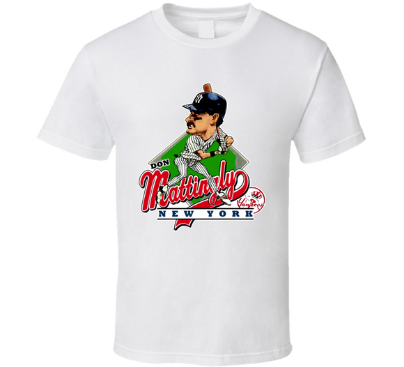 Don Mattingly New York Baseball Caricature T Shirt - Blazintees.com