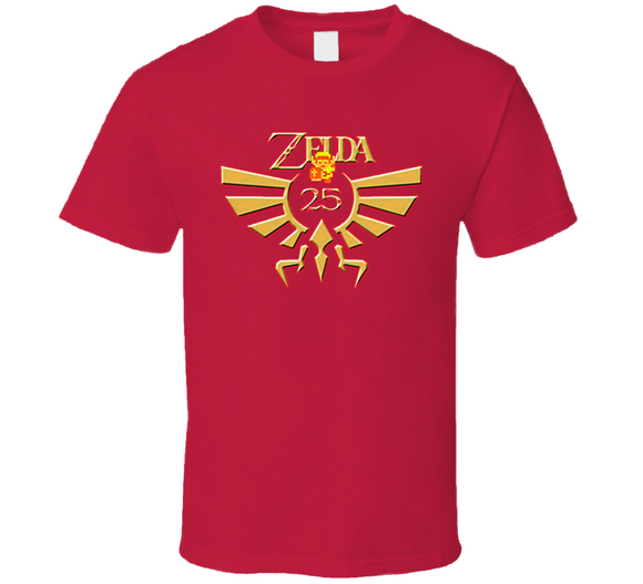 The Legend Of Zelda 25th Anniversary Retro Video Game T Shirt - Blazintees.com