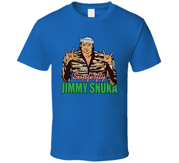 Jimmy Superfly Snuka Retro Wrestling T Shirt - Blazintees.com