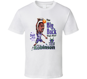 Glenn Robinson Milwaukee Basketball Caricature T Shirt - Blazintees.com