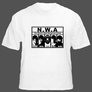 NWA Gangster Rap Hip Hop Rap T Shirt - Blazintees.com