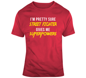 Street Fighter Gives Me Superpowers Retro Video Game T Shirt - Blazintees.com