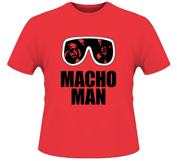 Macho Man Randy Savage Sunglasses Retro Wrestling T Shirt - Blazintees.com