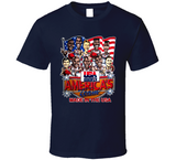 USA Basketball 1992 Dream Team Basketball Caricature T Shirt - Blazintees.com