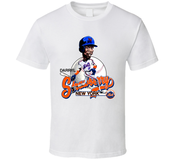 Darryl Strawberry New York Baseball Caricature T Shirt - Blazintees.com