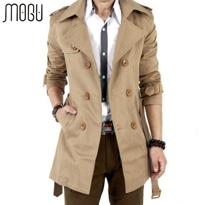 COATS -  Double Breasted Trench Coat
