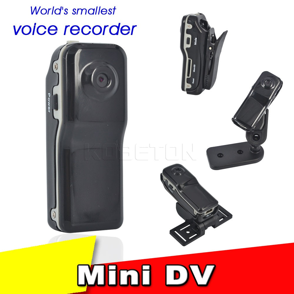 MINI CAMCORDER - DV MD80 DVR Video Camera 720P HD; Sport Outdoors Audio Support w/Clip