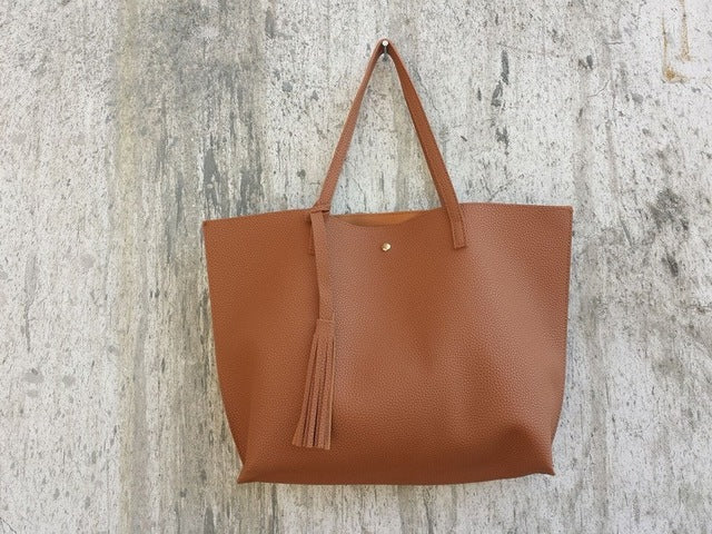 BAGS -  Soft Leather Top-Handle Bag