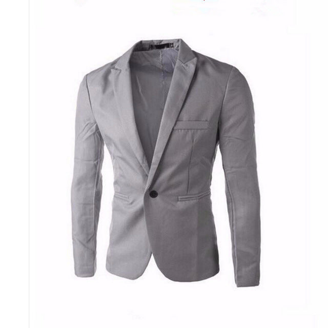 BLAZER -  Men's One Button Blazer