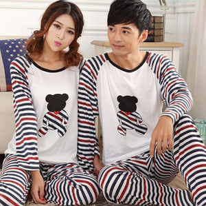 PAJAMAS - Long-sleeve Lovers sleepwear matching pajamas