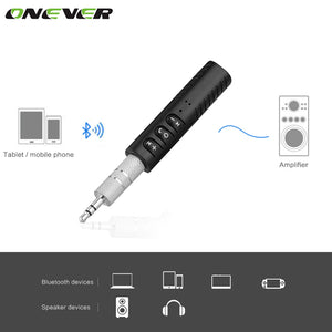 SMART PHONES CAR KIT: HANDS FREE - Universal 3.5mm Jack Bluetooth Car Kit Hands Free Music Audio Receiver Adapter