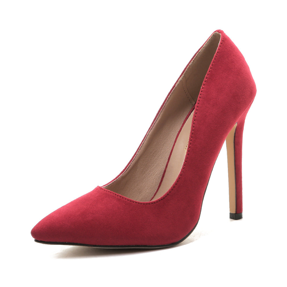 WOMAN'S HIGH HEELS  -   Plus Size Pointed Toe Women Pumps