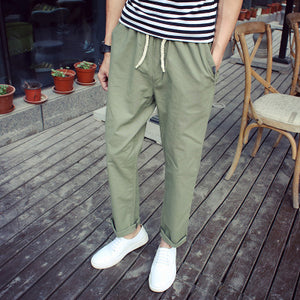 TROUSERS -  Cotton Linen Leisure Pants