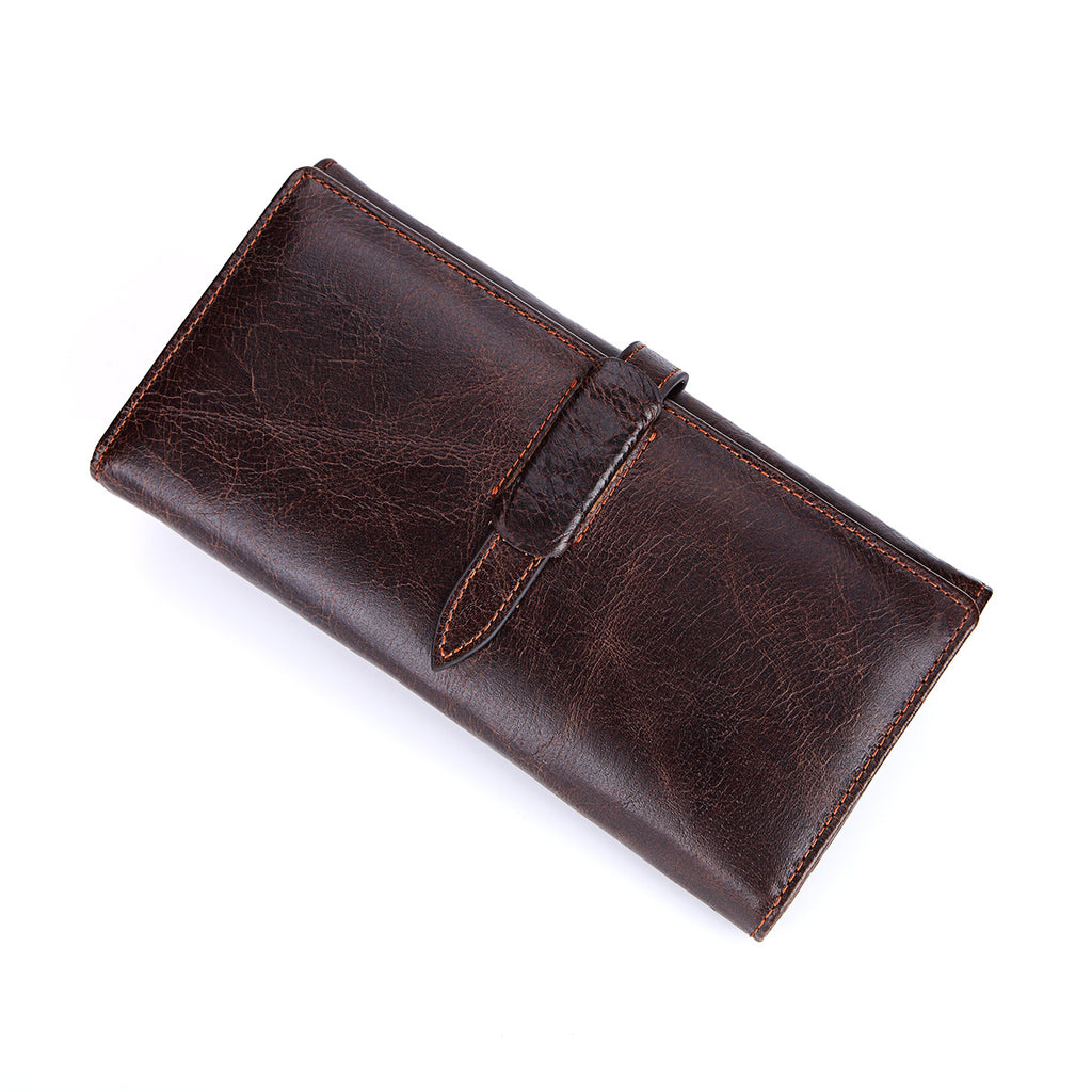 MENS WALLET - Genuine Leather Wallet w/Credit Card Organizer