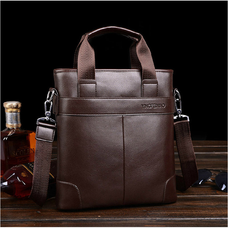 BRIEFCASE & BAGS - Leather Messenger Briefcase; Shoulder bag