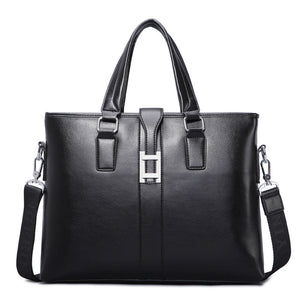 BRIEFCASE & BAGS - Simple Business Leather Briefcase / Shoulder Bag