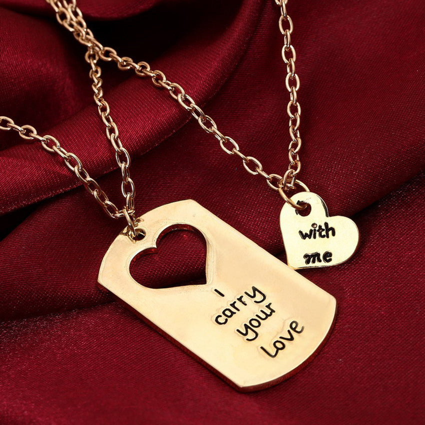 JEWELRY -  I Carry Your Love With Me; Couples Pendant and Necklace