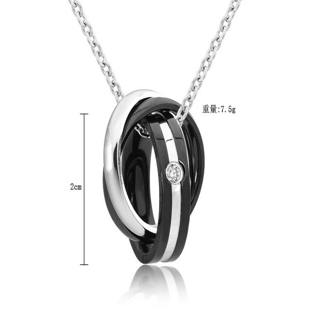 JEWELRY - Endless Love; Couple Necklace; Pendant Titanium Steel; Three Loop Combination