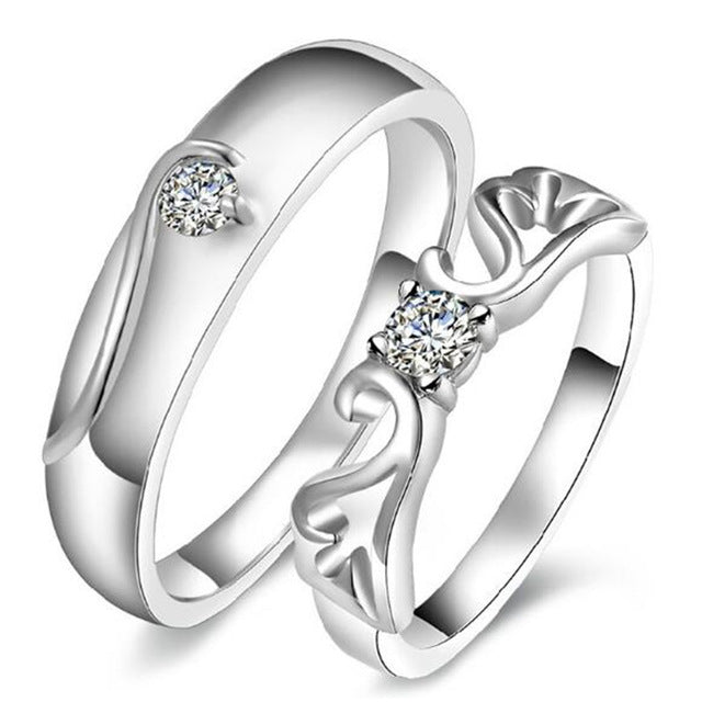 JEWELRY -  Romatic Angel Wedding Rings for Couples