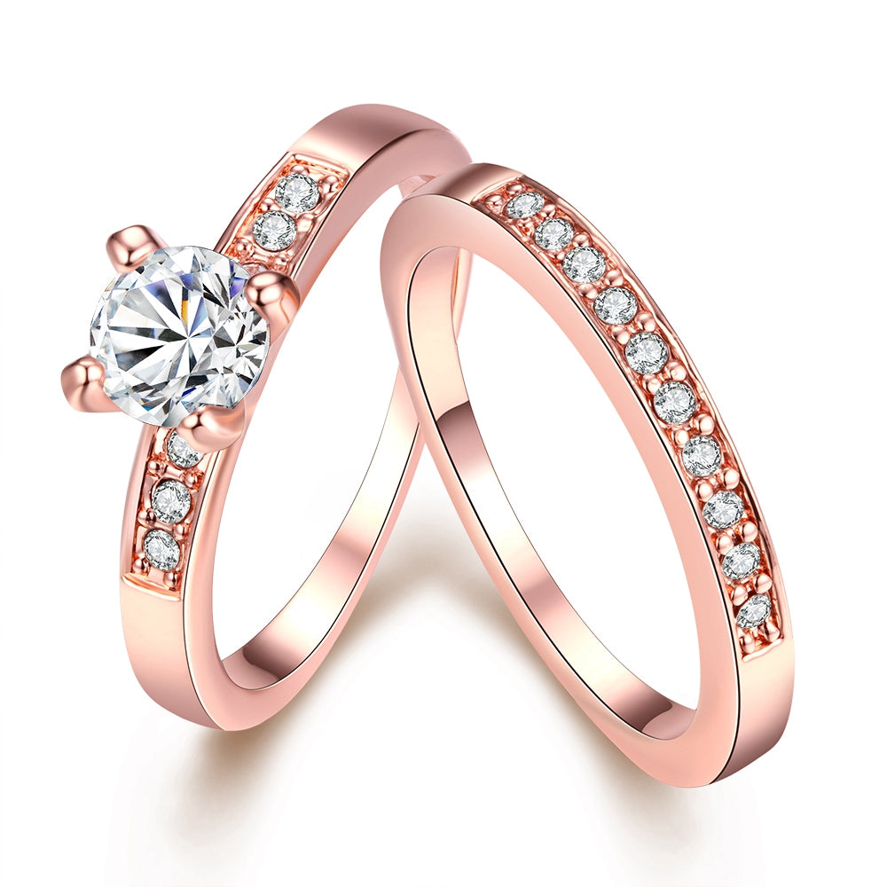 JEWELRY - Gold Promise Engagement Double Rings For Couples