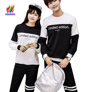 d206eb4016 CLOTHING Matching Couple T-Shirts for Lovers; Autumn Winter Tops Casual