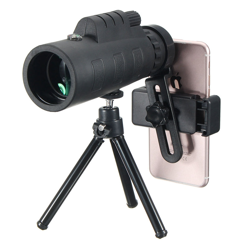 SMART PHONE CAMERA LENSES - Portable 12X Telescope Monocular Lens with Phone Holder Universal for iPhone / Android