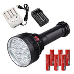 FLASHLIGHT - Waterproof LED Flashlight 20000LM 16X XML T6 LED Torch Hunting Light+Rechargeable Battery+Charger