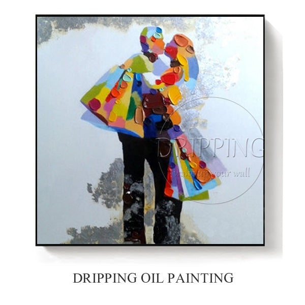 PAINTINGS  -   High Quality Hand-painted Modern Black and White Oil Painting