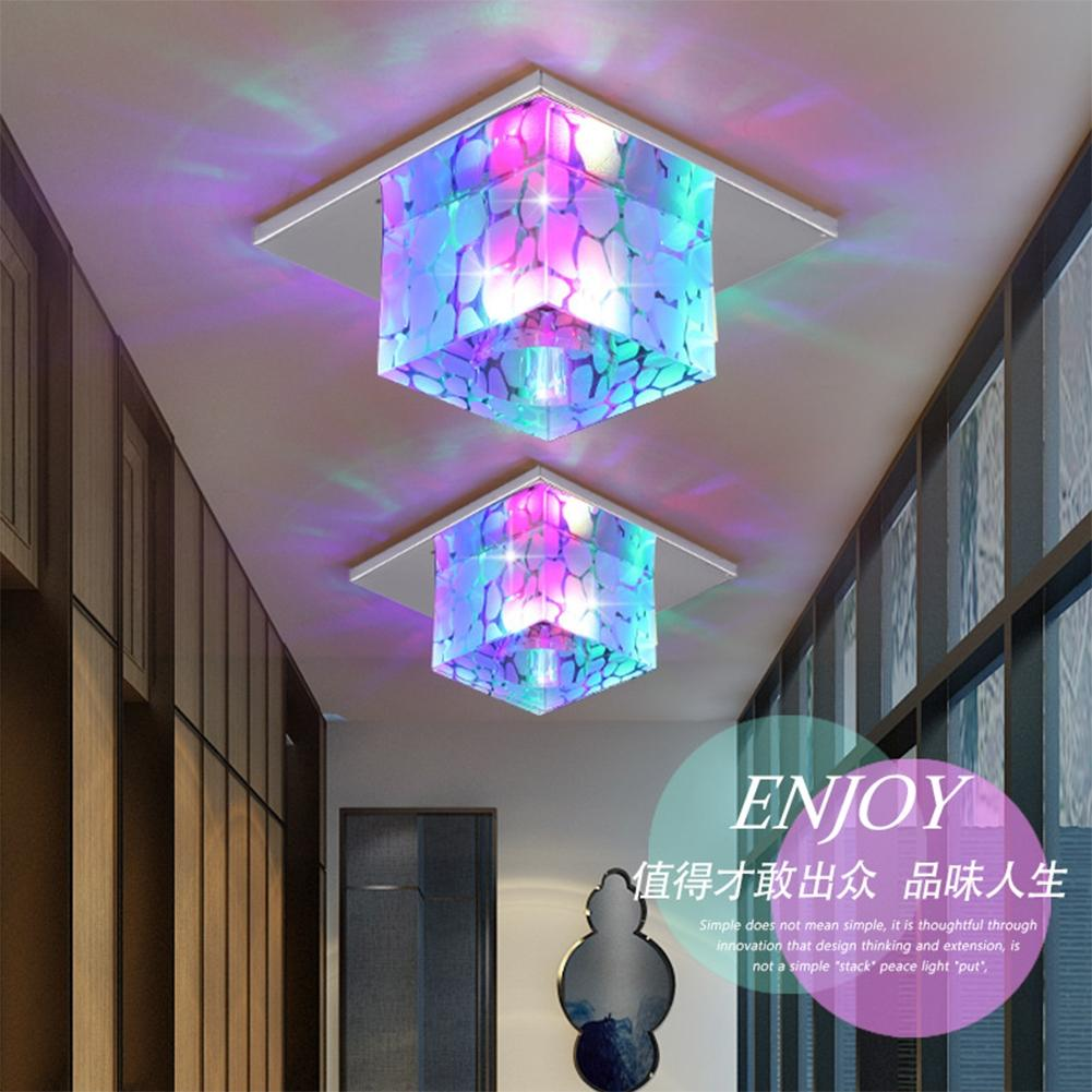 LIGHT FIXTURES  -   3W LED Modern Colorful Energy Saving Crystal Cabinet Ceiling Lamp