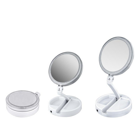 Miroir led pliable double face