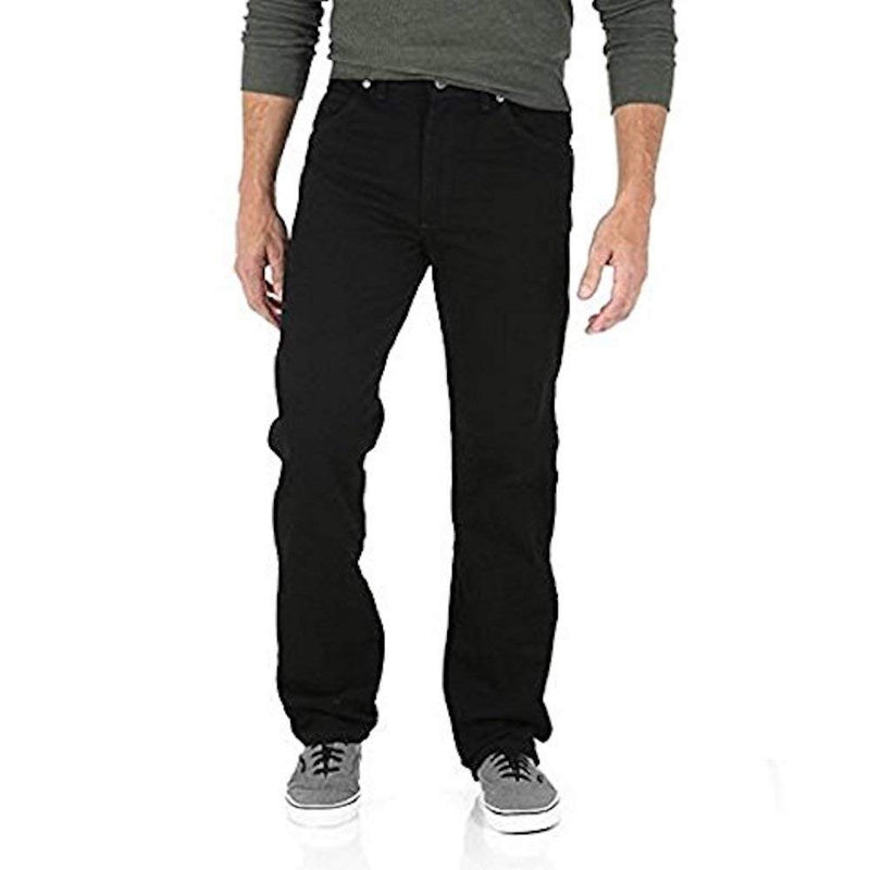 Wrangler Men's Relaxed Fit Jeans - Mens Black Jeans (34X30, Black)