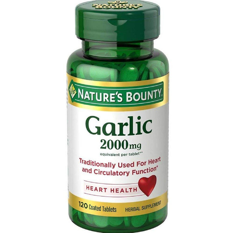 Nature's Bounty Garlic 2000mg, Tablets 120 ea ( Pack of 3)