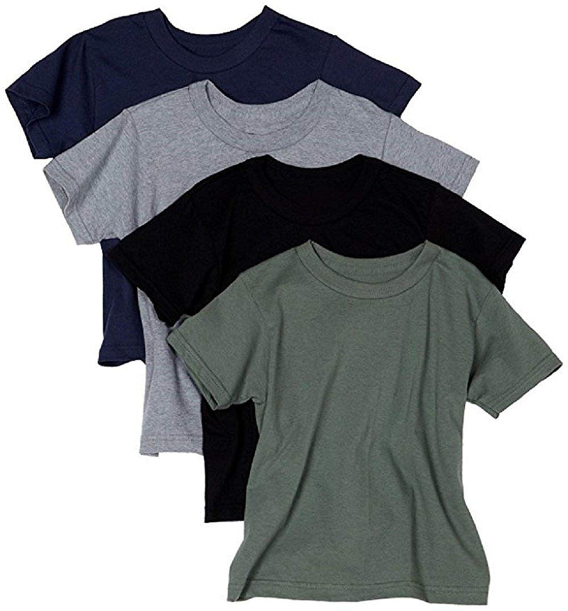 Hanes Men's ComfortSoft Tagless Dyed T-Shirts, Assorted Colors, Pack of 4 - Medium