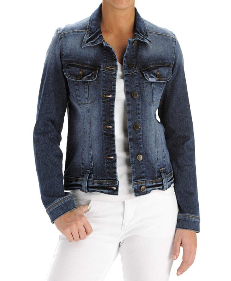 Lee Women's Perfect Fit Denim Jacket (Medium, Nile)