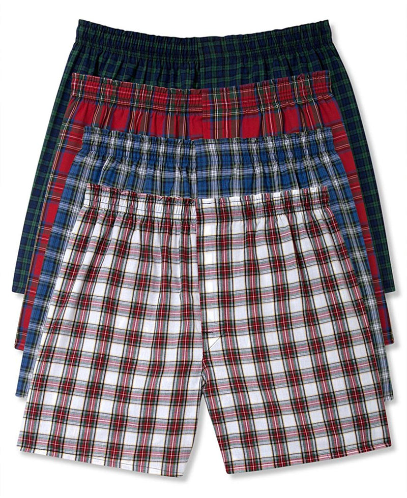 Hanes Men's Five-Pack Ultimate Tartan Boxers (XX-Large, 4 Pack Assorted)