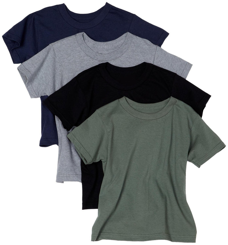 Hanes Men's ComfortSoft Tagless Dyed T-Shirts, Assorted Colors, Pack of 4 - Large